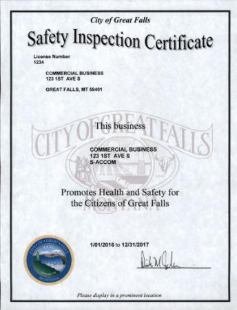 Safety Inspections City Of Great Falls Montana