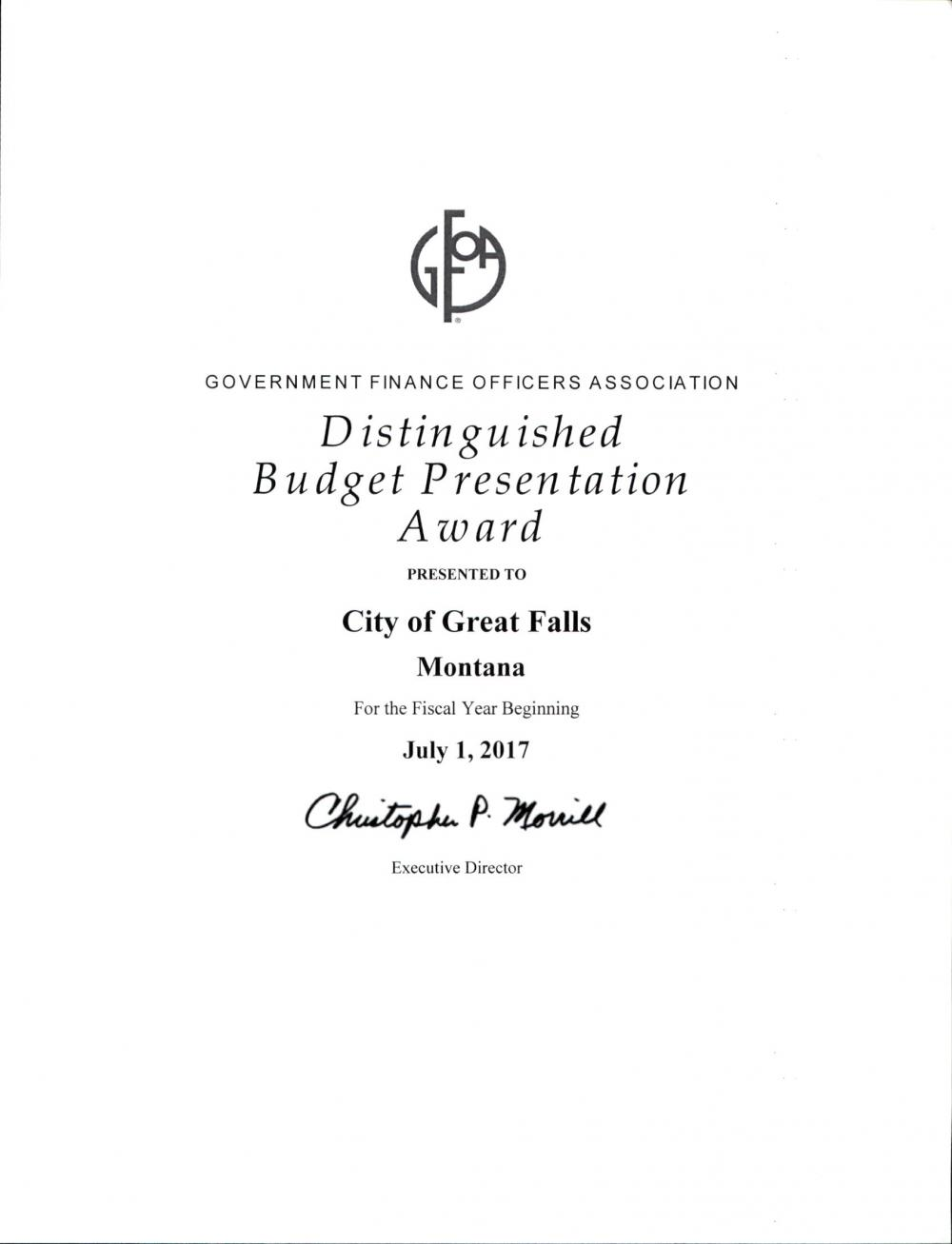 Budget Division | City of Great Falls Montana
